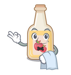 Waiter apple cider in character shape vector