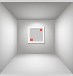 White gallery room background in perspective whith vector