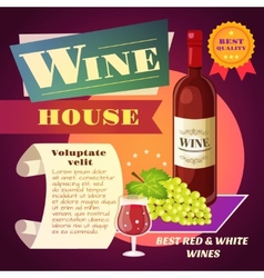 Wine house poster vector