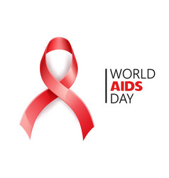 World aids day awareness hiv prevention vector