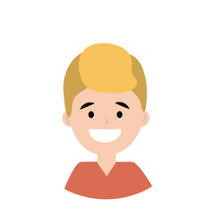 young man smiling vector image