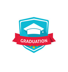 graduation emblem school or vector image