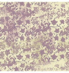 Seamless floral grunge background vector image vector image