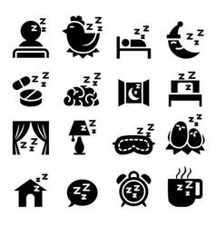 sleep icon set vector image