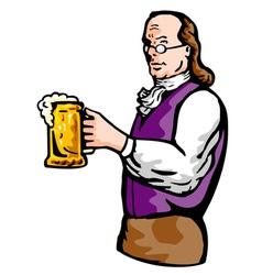 benjamin franklin beer mug vector image