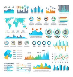 business demographics and statistics infographic vector image vector image