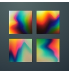 Fluid iridescent multicolored backgrounds vector image vector image