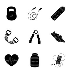 Jump rope ball scales other items for healthgym vector