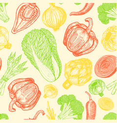 Seamless pattern with set of hand drawn elements vector