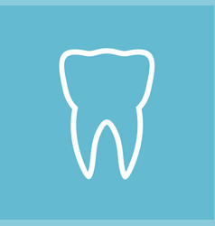 tooth logo and icon vector image vector image