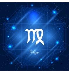 Virgo sign of the zodiac vector image