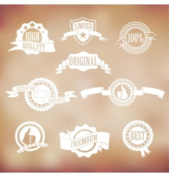 White badges and ribbons vector image vector image