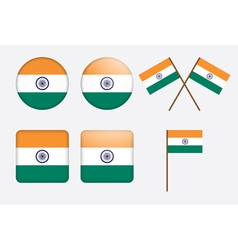 badges with flag of India vector image