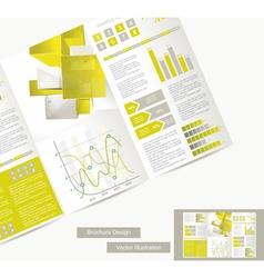 brochure design element vector image