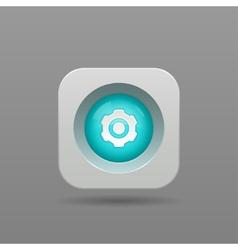 Gear button vector image vector image