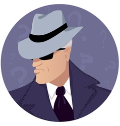 Man of mystery vector image vector image