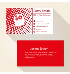 red abstract dots business card design eps10 vector image vector image