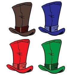 Top hats vector
