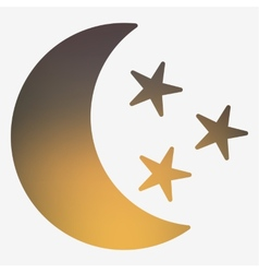 Weather flat style icon with moon and stars vector image vector image
