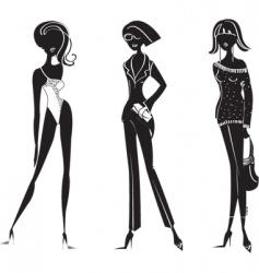 fashion girl11 vector image vector image