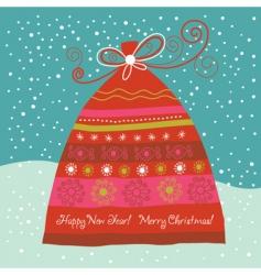 gift bag card vector image vector image