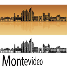 Montevideo skyline vector