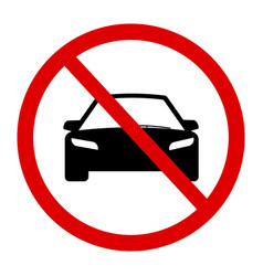 no car sign vector image