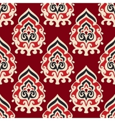 Seamless damask pattern for fabric vector image vector image