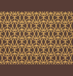 abstract gold art deco pattern background vector image