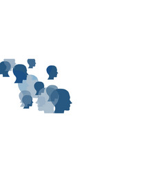 Abstract human faces on white vector
