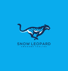 Abstract leopard concept template vector