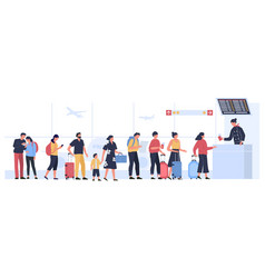 airport departure area plane boarding flight vector image