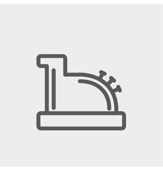 Antique cash register thin line icon vector