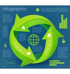 Arrow infographic eco circle vector