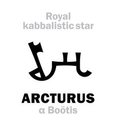 Astrology arcturus the royal behenian vector