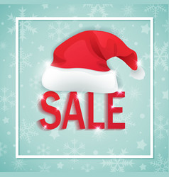 background for seasonal christmas sale vector image