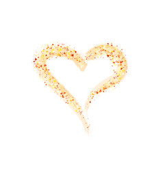 background with gold glitter heart painted vector image