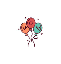 balloons icon design vector image