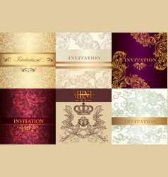 big set of invitations for design vector image