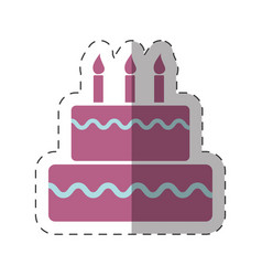 Birthday cake sweet festive vector