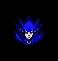 Bluee wizard mascot vetor image vector