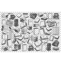 bookstore doodle set vector image