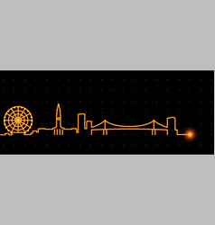 Brisbane light streak skyline vector