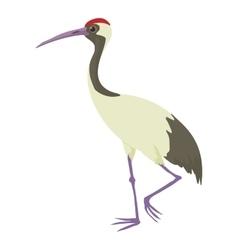 Chinese crane icon cartoon style vector
