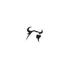 creative bull head logo design vector image