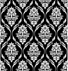 Damask-style design of floral arabesques vector