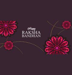 Design for raksha bandhan with nice mandala in a vector