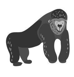 Design with a a cute and friendly gorilla vector