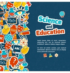 Education science background vector