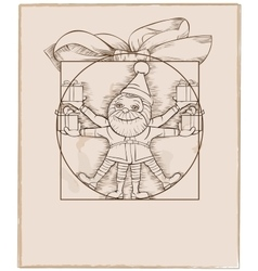 Elf carrying christmas presents cartoon vector image